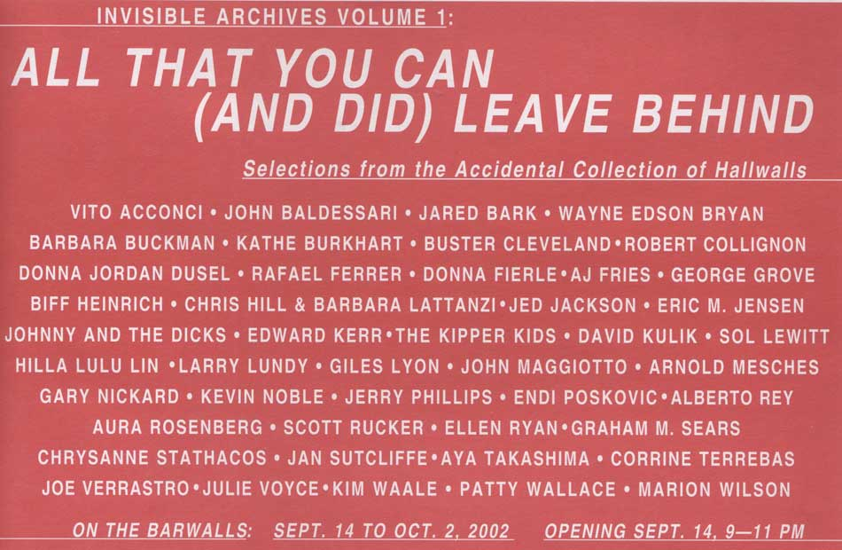 INVISIBLE ARCHIVES VOLUME 1: ALL THAT YOU CAN (AND DID) LEAVE BEHIND