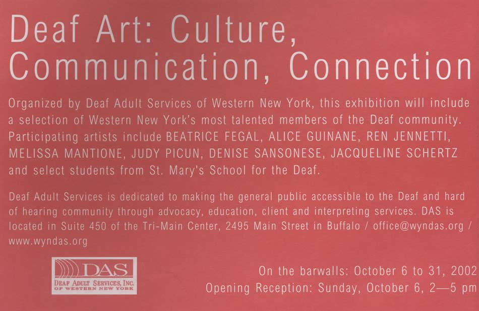 DEAF ART: CULTURE, COMMUNICATION, CONNECTION
