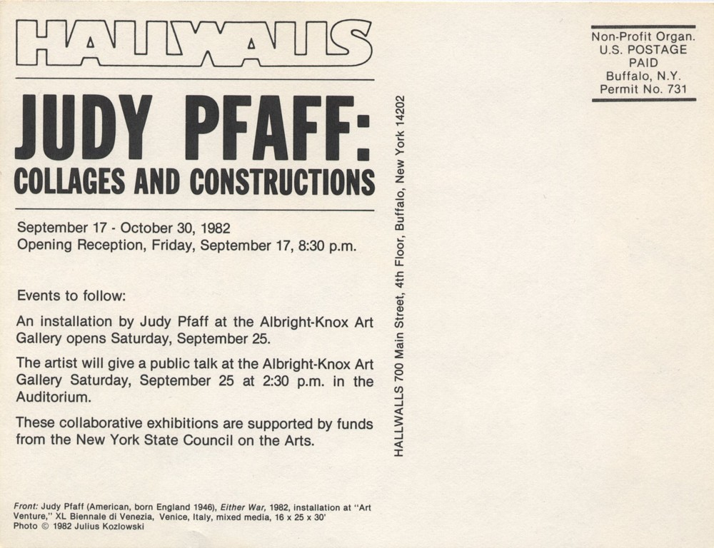 JUDY PFAFF: COLLAGES AND CONSTRUCTIONS